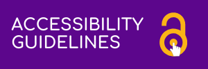 Purple rectangle with yellow lock. Link to accessibility guidelines.